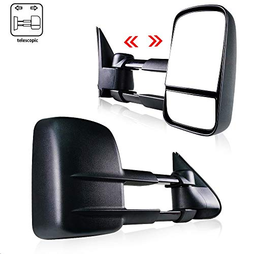 Spead-Vmall DOT Approved Towing Mirrors Side View Manual Telescoping Tow Mirrors For 1999-2007 Chevy Silverado/GMC Sierra 1500/2500/3500