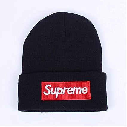 Amazon.com   Supreme Cotton Knitted Cap Blend Ski Hat - Men Women ... d6c241ca878