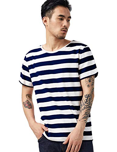 Zbrandy Striped T Shirt for Men Sailor Tee Red White Black Blue Stripes Top Summer Beach]()