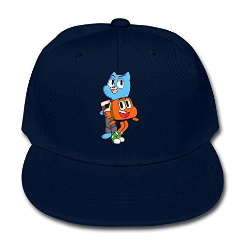 Nanazang The Amazing World of Gumball Adjustable Fashion Boys Girls Baseball Cap Casual Sun Navy -