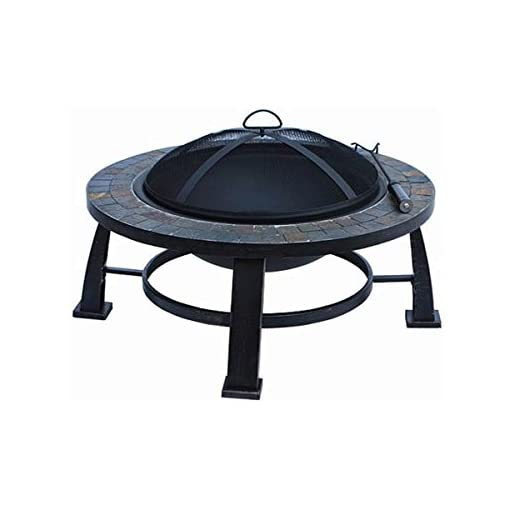 Fire Pits Fire Pit Sale Today! This Wood Burning Fire Pit Can Replace Gas Fire Pits Guarenteed. This 30″ Round Slate Fire Pit Design Is an Ideal Outdoor Backyard Patio Fire Pit Table. Fire Pit Accesories, Mesh Cover, Wood Grate and Poker Are Included. firepits