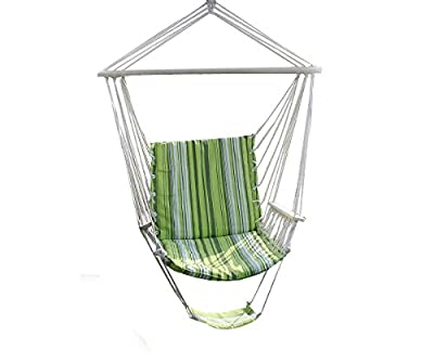 New Green Relaxation Swing Loft Hanging Open air Seat Cultivate Porch Yard 260Lbs Max