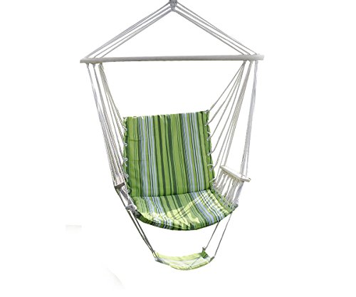 Romario Groomsmen PTO181435382597 Leisure Swing Hammock Hanging Outdoor Chair Garden Patio Yard, Patio Green Tone, Max Load:260lbs by Romario Groomsmen