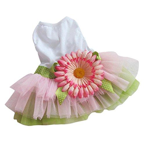 Perman 2016 Pet Dog Cat Gauze Tutu Dress Skirt Puppy Princess Clothes Bowknot Dress Hot (M) (Cat Tutu)