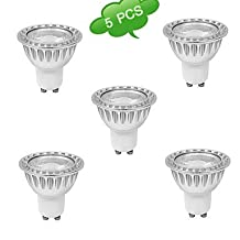 Light Bulbs, 3W GU10 LED Spotlight MR16 1 leds COB Dimmable Warm White Cold White 280-350lm 3000K AC 220-240V long life . ( Light Source Color : Cold White , Pieces/Pack : 5 )