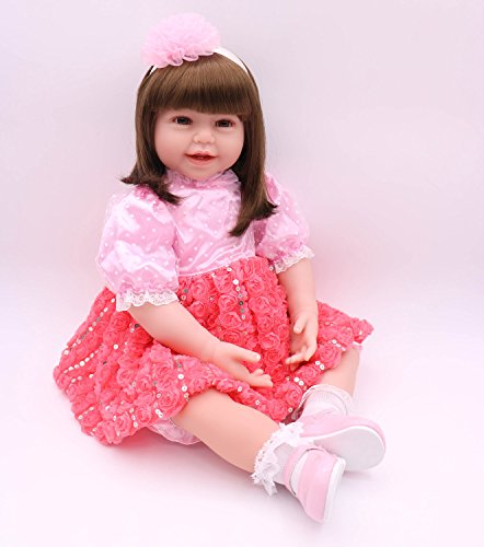 Pursue Baby 24 Inch Floppy Body Lifelike Toddler Princess Girl Doll Charlene by Pursue Baby (Image #2)