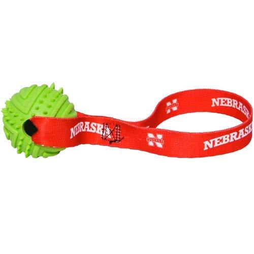 Hunter NCAA Nebraska Cornhuskers Rubber Ball Toss Toy for Pets