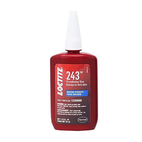 Loctite 1330906 243 Medium Strength Surface Insensitive Threadlocker, 36-milliliter Tube