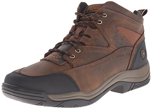 Ariat Mens Terreno Largo Punta Quadrata Punta Dacciaio Cowboy Occidentale Afflitto Marrone