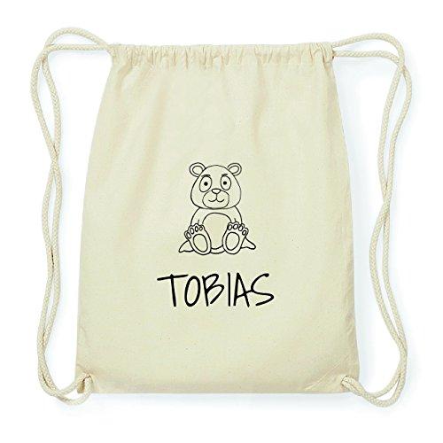 JOllipets TOBIAS Hipster Turnbeutel Tasche Rucksack aus Baumwolle Design: Bär