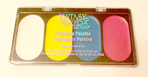 Rock Star Painter's Palette Pink Blue Yellow Fantasy Makers Makeup Halloween Accessory -