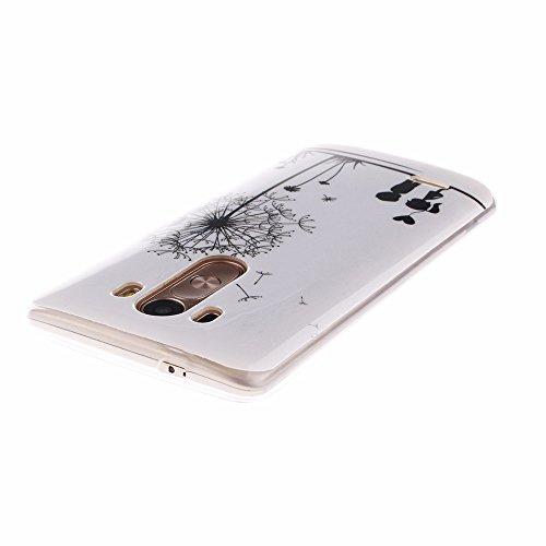 AllDo Funda Silicona para Microsoft Nokia Lumia 630 Carcasa Protectora Caso Suave TPU Soft Silicone Case Cover Bumper Funda Ultra Delgado Carcasa Flexible Ligero Caja Anti Rasguños Casco Anti Choque - Diente de León y Niños
