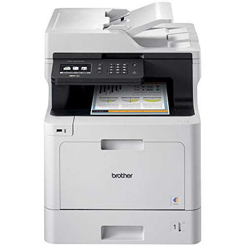 Brother Color Laser Printer, Multifunction Printer, All-in-One Printer, MFC-L8610CDW, Wireless Networking, Automatic Duplex Printing, Mobile Printing and Scanning, Amazon Dash Replenishment Enabled (Renewed)