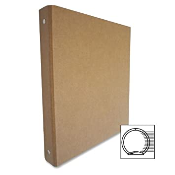 Amazon.com : Aurora 10252 1-Inch Capacity Three Ring Brown Kraft ...