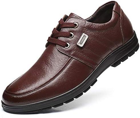 メンズ カジュアルシューズ ワーキングシューズ レースアップシューズ 本革 メンズ靴 大きいサイズ 春 夏 ローカット 蒸れない 滑り止め 屈曲性 歩きやすい ブラック ブラウン 黒&茶 24.0-28.5cm