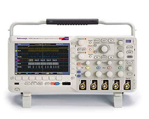 (Tektronix MSO2014B Mixed Signal Oscilloscope, 100 MHz, 1 GS/s Sample Rate, 1 Length, 4 Analog Channels, 5 Year Warranty)
