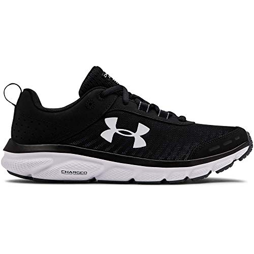 Under Armour Women's Charged Assert 8, Black (001)/White, 9