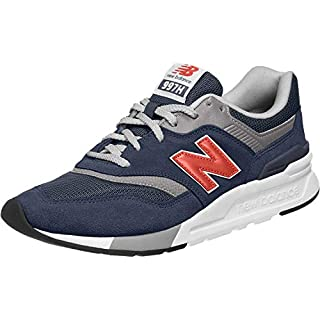 New Balance Men's 997H V1 Sneaker, Natural Indigo/Neo Flame, 11 M US