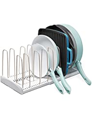 YouCopia 50138 StoreMore Expandable Cookware organizer, Rack, White