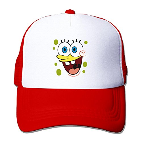 Funny Funny Spongebob Snapback Hat One Size Red