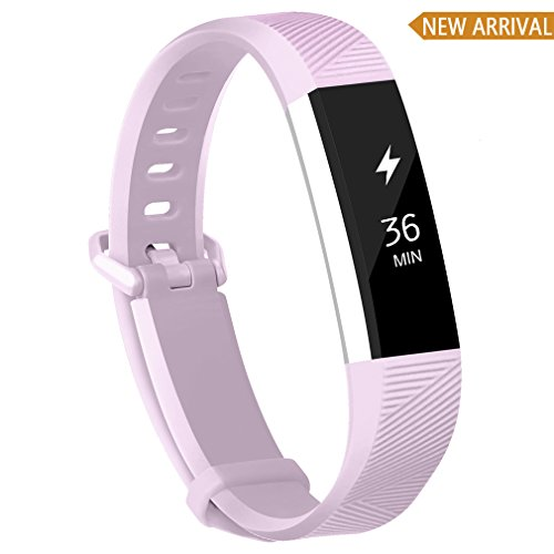 Pattern Clasp - POY Compatible Bands Replacement for Fitbit Alta/Fitbit Alta HR, Adjustable Sport Wristbands for Women Men (Small)