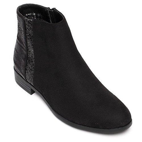 Ideal Shoes, Mädchen Stiefel & Stiefeletten Schwarz