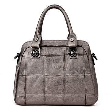 Womens Bags Handbags - 3 Main Pockets Women Casual Handbag Crossbody Bag Black - 1x Bag