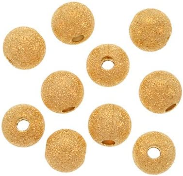 Sparkly! 10 4mm Gold Filled Stardust Beads
