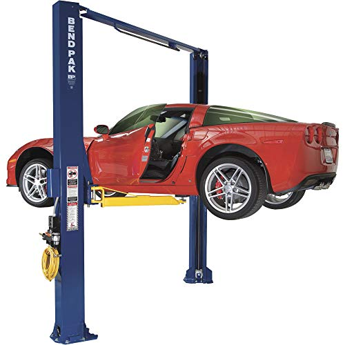 BendPak Dual-Width 2-Post Asymmetric Car Lift - 10,000-Lb. Capacity, Gray, Model Number XPR-10AS