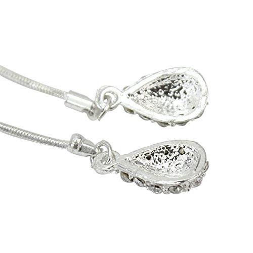 1 Paire Boucles d'oreilles Clou Couleur Argenté Dangle Cadeau Femmes Fantaisie