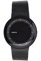 Fossil Men's PH5038 Leather Synthetic Analog with Black Dial Watch