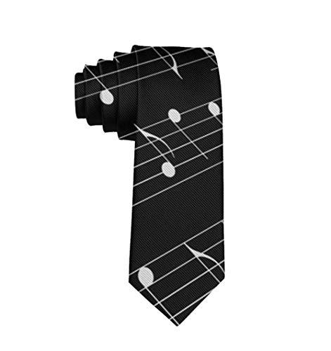 Novelty Men's Necktie Black And White Piano Keys