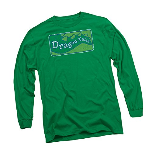 Distressed TV Show Logo -- Dragon Tales Adult Long-Sleeve T-Shirt