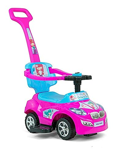 Milly Mally 5901761124637 Milly Mally Ride on 3in1 Happy Pink-Blue Vehicle rosa