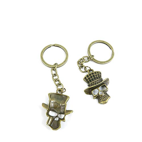 20 Items Keychain Keyring Key Tags Chains Rings Jewelry Bag Charms L2CJ6 Halloween Skull