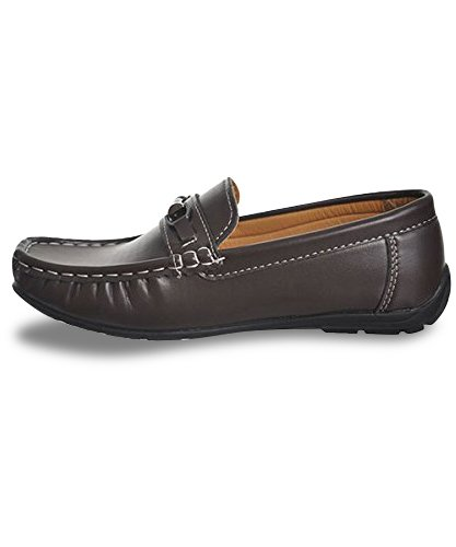 Premium Feel Josmo Boys Loafer Shoes Black and Brown Available