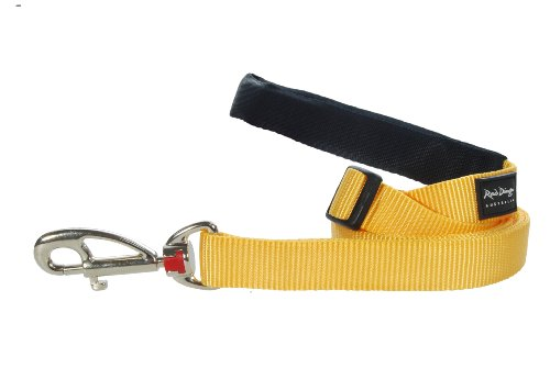Red Dingo Dog Lead, Small, Yellow