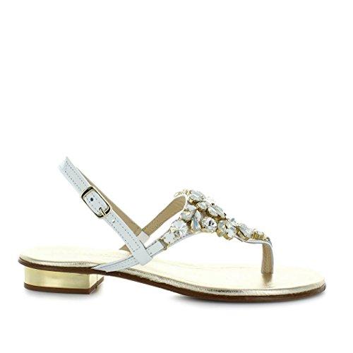 Donne Sandalo Positano Scarpe Swarowski 2018 Bianco Da Primavera Giallo Estate 6nqn7TfgxB