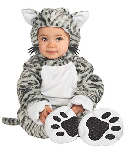 Rubie's Cuddly Jungle Kit Cat Cutie Romper Costume, White/Black, 6-12 Months]()