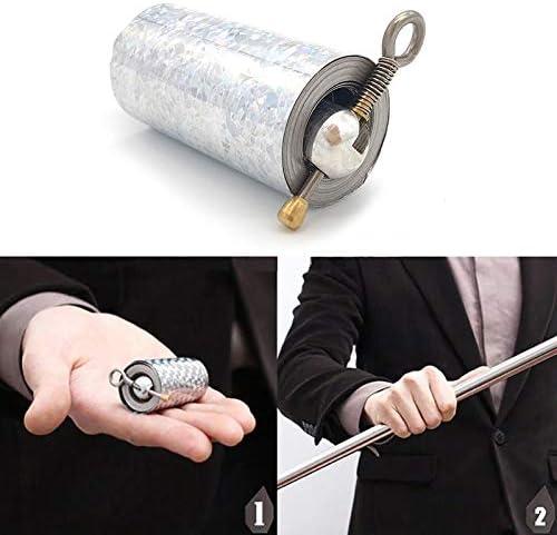 Soulitem Wundervolles Auftauchen von Cane Metal Silver Magic in der N/ähe von Illusion Silk to Wand Tricks Stage