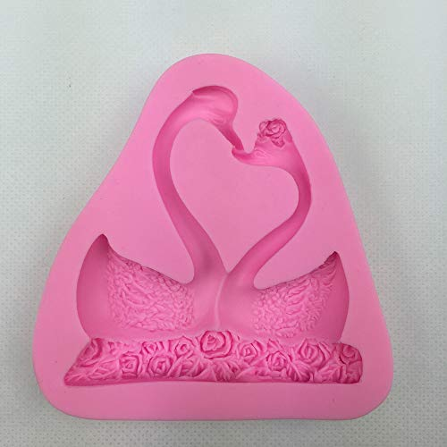 - 1 piece Swan Flamingo Turkey Shape 3D fondant cake silicone mold kitchen pastry candy making soap candle cupcake decoration tools F0302