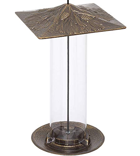Whitehall Products Pinecone Tube Feeder, 12-Inch, Oil Rub Bronze