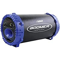 NAXA NAS-3084 BLUE BOOMER IMPULSE LED Bluetooth(R) Boom Box (Blue)