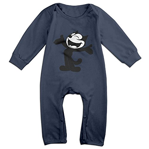 Gdlov Felix The Cat 13 Baby's Boys Girls Kids Long Sleeve Creeper Romper Bodysuits Onesies Jumpsuits Size 6 M US (Kids Minion Suit)