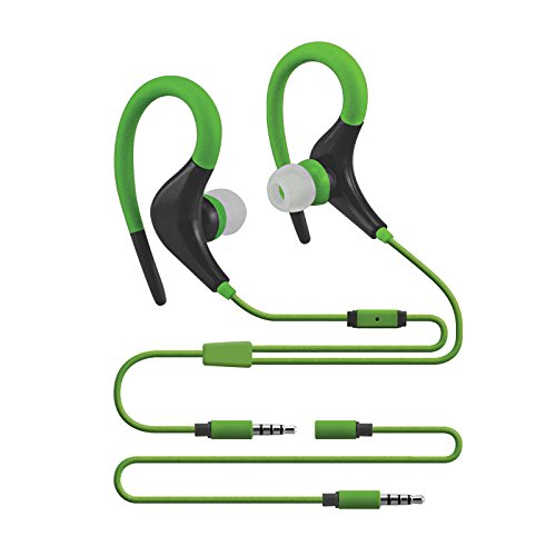 Sentry Sport Series Premium Wrap Around Buds with Mic, Green, H5002