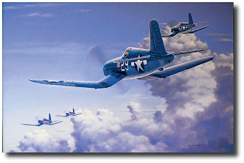 Salute to the Jolly Rogers by Domenic DeNardo- F4U Corsair- Aviation Art Prints