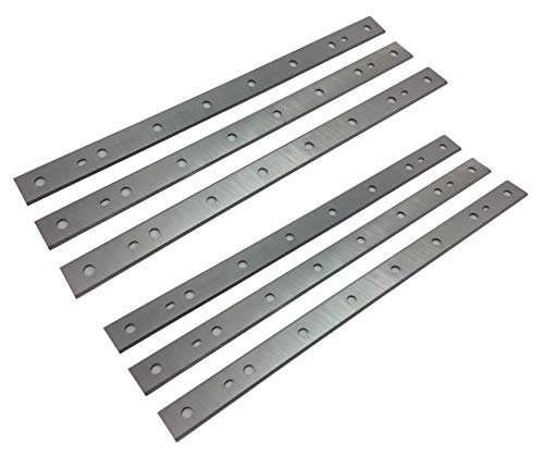 13-Inch Replacement HSS Planer Blades Knives for DeWalt DW735, DW735X Planer - 2 Sets (6 Pack)