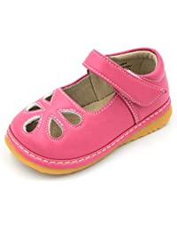 Toddler Shoes | Squeaky Flower Punch Mary Jane Toddler Girl Shoes
