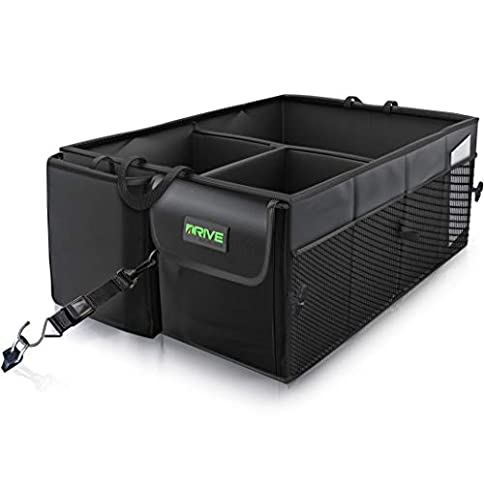 Drive Auto Products Car Trunk Organizer with Straps - 412sBe9dx7L - Drive Auto Products Car Trunk Organizer with Straps