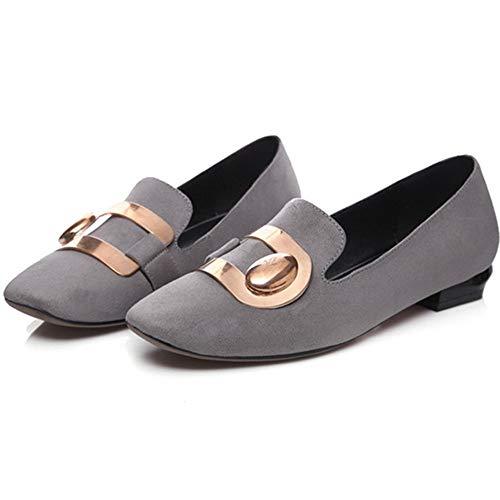 LIANGHUA Mode High Heels Kappe Pumpt Style Frühling Damen Leder Classice Herbst Schuhe Street Frauen Schuhe Pu Solide Frauen Quadratische Schuhe rgnOr6S